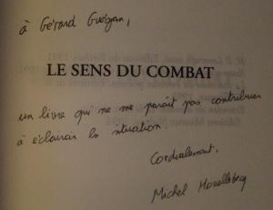Michel Houellebecq - envoi Guégan
