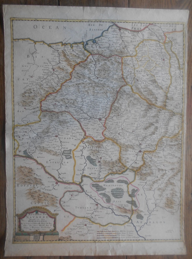 Royaume de Navarre, Sanson d'Abbeville, 1652, 01