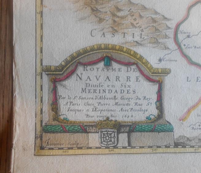 Royaume de Navarre, Sanson d'Abbeville, 1652, 02