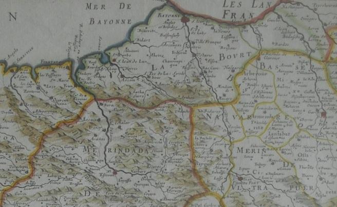 Royaume de Navarre, Sanson d'Abbeville, 1652, 03